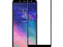 Samsung J4 J6 - Pachet Husa Silicon Clara/Neagra + Folie Sti