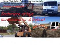 Inchiriez buldoexcavator miniexcavator si bobcat