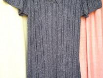 Bluza lunga gri cu fir argintiu tip Jerseu extra fin anchior