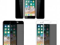 Iphone 6 6S+ 7 7+ 8 8+ Folie Sticla Curbata Privacy Alba Nea