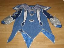 Costum carnaval serbare rege print cavaler pentru adulti XL