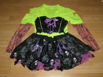 Costum carnaval serbare schelet pentru adulti marime L