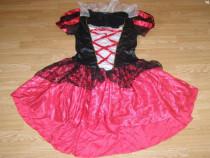 Costum carnaval serbare pirata scufita rosie adulti L-XL
