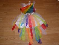 Costum carnaval serbare curcubeu 4-5-6 ani