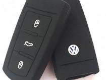 Husa Silicon Cheie Volkswagen Negru SIL 325
