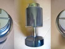 A514-bricheta sarome birou sticla neagra picior inalt gaz.