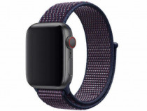 Bratara indigo nylon Apple Watch 38mm, curea ceas seria 1, 2