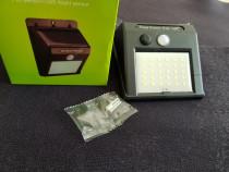 Lampa Solara cu 30 Led-uri Bec+ Senzor Miscare, pt Garaj etc