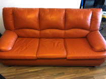 Canapea piele 3 locuri extensibila