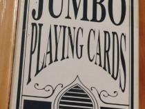 Jumbo playing cards plastic coated