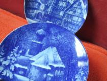 Craciun- farfurii portelan Royal Bavaria 1976 -cadou inedit