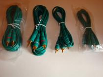 Cablu audio jack aurit 3.5 la 2 RCA mufe aurite 1.5m si 5m