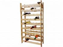 Suport Sticle Vin din Lemn Natur Dionysos - Livrare Garanție