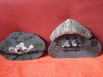 Seria birds-decoratiuni de colectie handmade,vintage-cadou