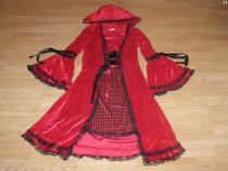 Costum carnaval serbare scufita rosie pentru adulti marime L