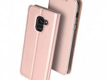 Husa Telefon Flip Book Samsung Galaxy J6 2018 j600 Rose Gold