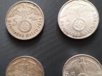 Monede argint 5 marci naziste 1936-1939