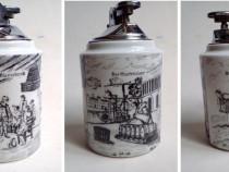 Bricheta veche in suport ceramic, pentru colectionari