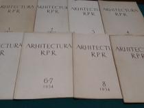 Arhitectura r.p.r / 1954/ nr. 1,2,3,4,5,6-7,8,9