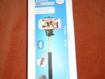 Selfie Stick Hama Bluetooth, Negru, cu telecomandă integrată