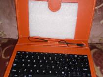 """Husa Tableta Omega OCT7KBIO, cu tastatura QWERTY, 7"""", micro"""