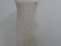 Rochie din dantela ivoire marime XS/34-36