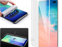 Samsung S10 S10 Plus - Folie Sticla Curbata UV + Kit