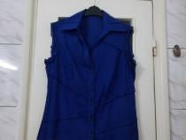 Bluza dama albastra fara maneci marimea L - Noua