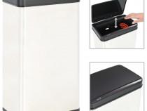 Coș de gunoi senzor automat argintiu&negru 50922
