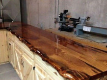 Blat de bucătărie din lemn masiv