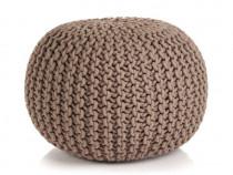 Puf tricotat manual, bumbac, 50 x 35 cm, 245073