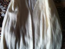 Pulovăr lână dama alb