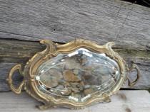 Tava din bronz cu oglinda