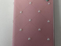 Husa Telefon Flip Book Apple iPhone 5 5s SE Pearls PINK