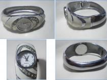 Ceas brăţară de damă LCT, email şi strasuri, functional