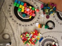 Cuburi din plastic pentru copii, 357 de bucăți