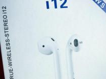 Casti wireless airpods i12 + husa cadou