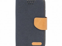 Husa Telefon Flip book Universala Canvas 4.7 inch 13.8x7.4cm