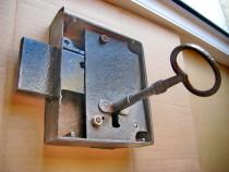 B181-Broasca camara veche metal functionala cheie originala.