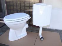 Vas de toaleta / wc + capac din MDF + rezervor Geberit