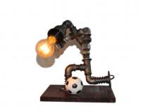 Lampa fotbalist steampunkdesigncj, lampa steampunk