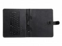 Husa tableta piele universala black cu tastatura produs nou