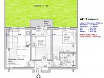 Direct dezvoltator apartament cu 3 camere  Primarie