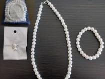 Set nou perle de cultura - colier+bratara+cercei