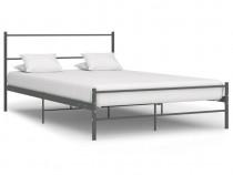 Cadru de pat, gri, 160 x 200 cm, metal 286495