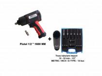"""Pistol pneumatic 1/2"""" 1600 nm + Tr.tub.impact 1/2"""" speciale"""