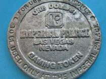 5183-Moneda 1$ gamble Imperial Palace Las Vegas, Nevada.