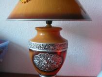 Lampă ceramică cu abajur, veioză mare 64 cm înălțime