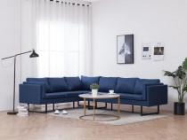 Canapea de colț, albastru, material textil 282236
