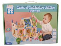 Blocuri de construit din lemn, Micul arhitect (128 piese)